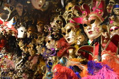 Venetian Masks. Venetian Carnival Masks down the streets of Venice Stock Photography