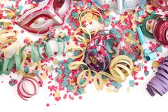 Venetian masks with confetti royalty free stock photography