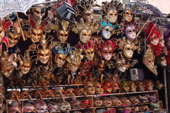 Venetian Masks on display in Venice Stock Images