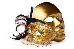 Venetian masks isolated on  white Royalty Free Stock Image