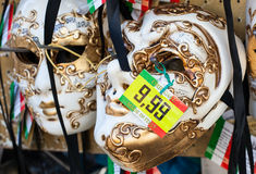 Venetian masks for sale. Royalty Free Stock Photography
