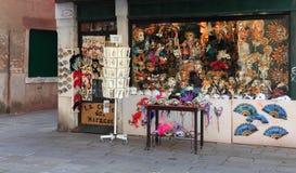 Venetian masks shop Royalty Free Stock Photo