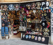 Venetian Masks Shop Stock Photos