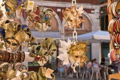 Venetian Masks. Traditional Venetian masks at Rialto market. Venice Stock Photos
