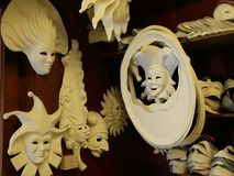 Venetian masks. Venetian masks in Venice, Italy royalty free illustration