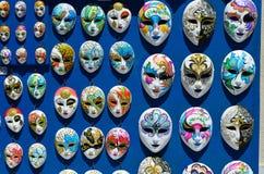 Venetian masks. Vintage venetian carnival masks- fridge magnet souvenirs Royalty Free Stock Photography