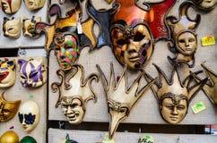 Venetian masks. Vintage venetian carnival masks- souvenirs in Venice,Italy stock photos