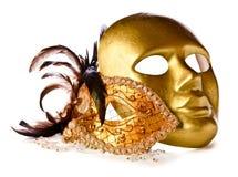 Venetian masks  on  white Stock Image