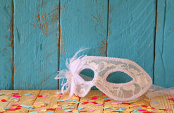 Venetian masquerade mask. selective focus. vintage filtered Royalty Free Stock Photography