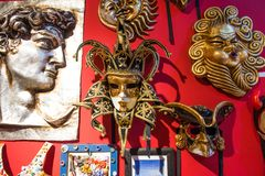 Venetian Masquerade Masks. In the Store royalty free stock photos