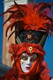 Venetian masquerader (hat) Stock Images