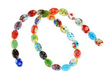 Venetian millefiori glass beads Royalty Free Stock Images