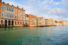 Venetian morning landscape with palazzos Royalty Free Stock Image