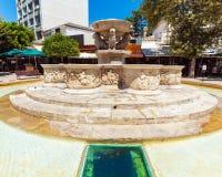 Venetian Morosini Fountain in the Lions square, Heraklion, Crete. Greece Stock Image