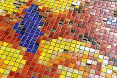 Venetian mosaik som en dekorativ bakgrund Arkivbilder
