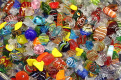 Venetian Murano glass sweets Royalty Free Stock Photos