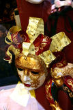 Venetian music mask. Venetian mask with musical notes Stock Images