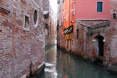 Venetian narrow canal Royalty Free Stock Photo