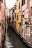 Venetian narrow canal, traditional italian architecture, Venice, Italy. Venetian narrow canal, traditional italian architecture, Venice street, Italy, Europ stock image