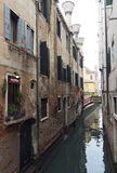 Venetian narrow river Royalty Free Stock Image