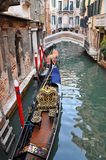 Venetian Narrow Water Channel Stock Images
