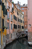 Venetian Narrow Water Channel Stock Image