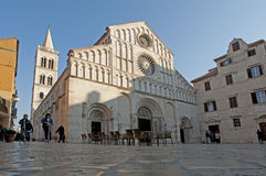 Venetian old church with Romanesque architecture Stock Image