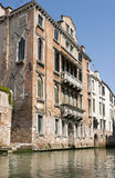 Venetian old house. Historic house located on the Venice channels Stock Photo