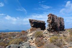 Venetian Ottoman Greek ruins fort, Imeri, Gramvousa, Crete Greece Royalty Free Stock Photo