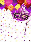 Venetian party background Royalty Free Stock Images