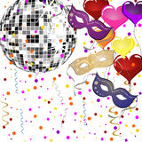 Venetian party background Stock Photography