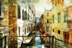 Venetian pictures. Amazing Venice - artwork in painting style