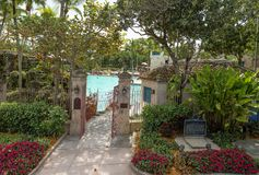 The Venetian pool in coral Gables, Miami stock photos
