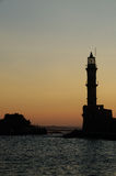 Venetian port in Chania Greece Stock Images