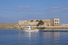 The Venetian port, harbor of Chania, Crete, Greece Royalty Free Stock Photography