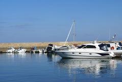 The Venetian port, harbor, yacht club of Chania in Crete, Greece. Stock Image