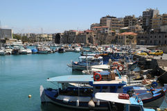 Venetian Port in Heraklion Royalty Free Stock Image