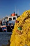 Venetian port in Irakleo Greece Stock Photo