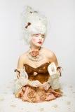 Venetian Princess. Masquerade ball. Royalty Free Stock Photos