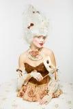 Venetian Princess. Masquerade ball. Stock Photo