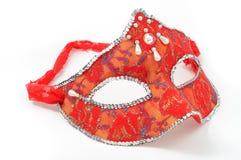 Venetian red mask. On white background Stock Image