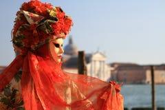 Venetian red mask Stock Photos
