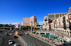 Venetian Resort  and Treasure island hotel and casino, Las Vegas Royalty Free Stock Images