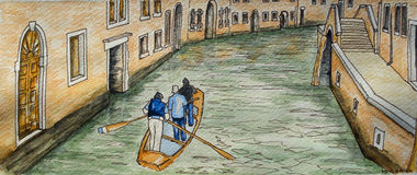 Venetian Rowing Venice Royalty Free Stock Photo