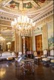Venetian rum på den Catete slotten, den tidigare presidentpalatset inhyser nu republikmuseet - Rio de Janeiro, Brasilien royaltyfri foto