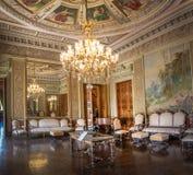 Venetian rum på den Catete slotten, den tidigare presidentpalatset inhyser nu republikmuseet - Rio de Janeiro, Brasilien fotografering för bildbyråer