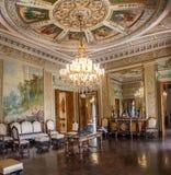 Venetian rum på den Catete slotten, den tidigare presidentpalatset inhyser nu republikmuseet - Rio de Janeiro, Brasilien royaltyfri fotografi