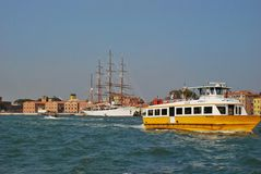 Public transport, water bus in Venice, Italy Royalty Free Stock Photos