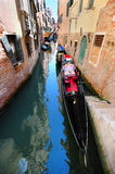 Venetian scenery with a gondola Royalty Free Stock Photos