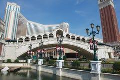 Venetian semesterort-hotell i Macao, Kina Fotografering för Bildbyråer